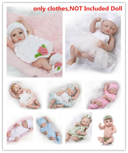 New10-11/'/' Reborn Baby Boy Girl doll Clothing Set Newborn Outfit UnIncluded C293