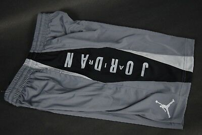 NWT Boys Nike Jordan AJ Highlight Jumpman Shorts 953149 K26 sz S-L Grey Black