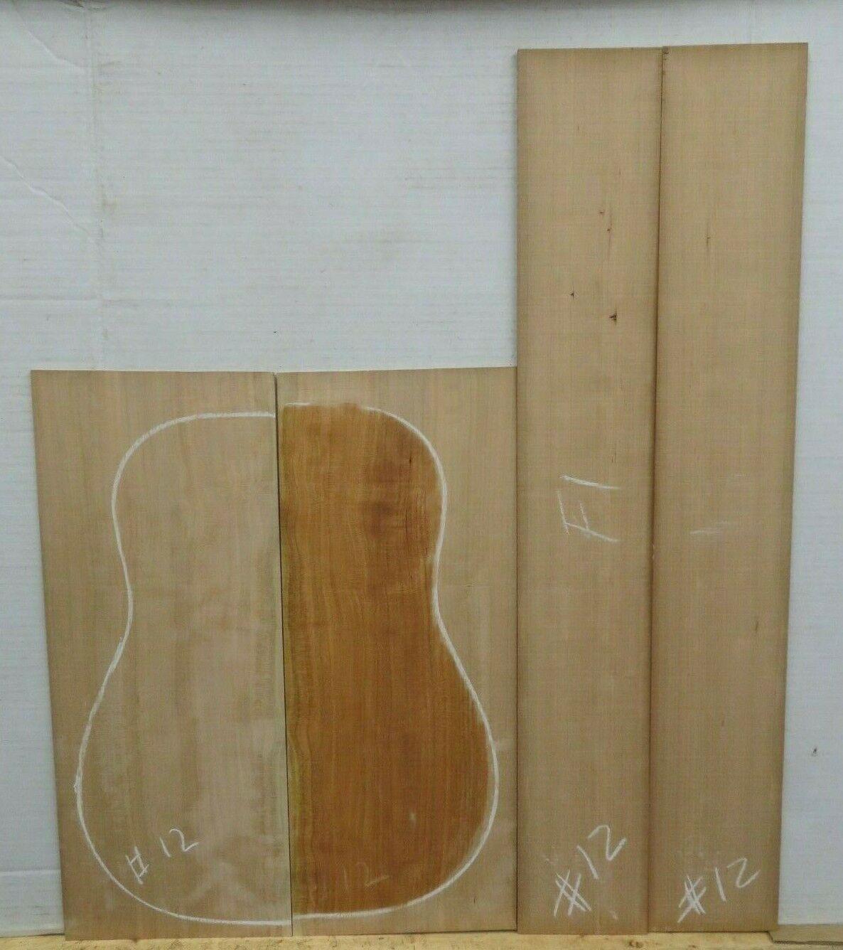 Gitarre Rücken und Seiten Dreadnought Cherry Set Aaaa12 Gitarrenbauer Tonewood