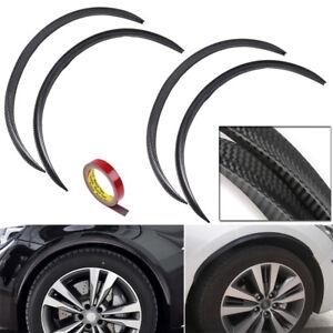 4x72cm-Carbon-Fiber-Car-Wheel-Eyebrow-Protector-Decor-Arch-Trim-Flare-Fender-Lip