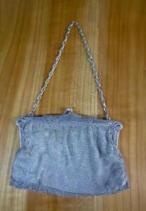 Silber Tasche - Jugendstil Abendtasche