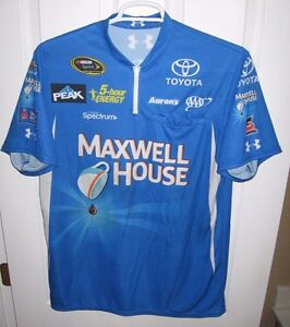 MD 2015 Maxwell House Waltrip Racing Nascar Pit Crew Shirt Bowyer Under Armour