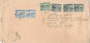 bangladesh overprints on pakistan early stamps cover ref 12820