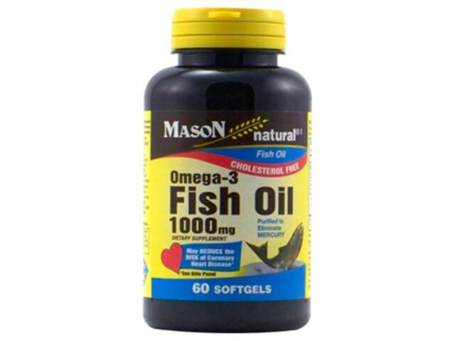 60 SOFTGEL OMEGA 3 FISH OIL PURIFIED 1000 mg EPA DHA FOR OVERALL HEART HEALTH