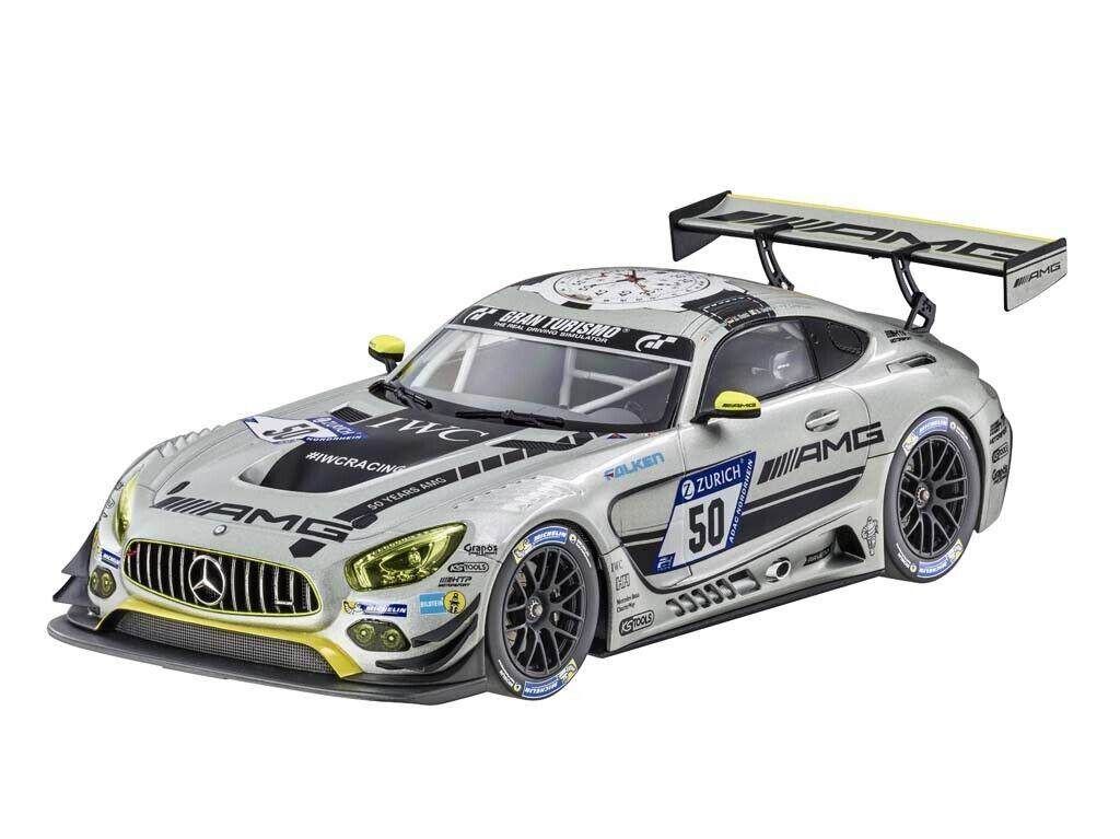 punto de venta Genuine Mercedes-Benz Mercedes-Benz Mercedes-Benz AMG GT3 HTP Motorsport Plata 1 18 Modelo B66960452 Nuevo  salida de fábrica