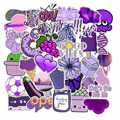 Cartoon Small Fresh Graffiti Stickers Flask 50Pcs Purple Sticker Aesthetic