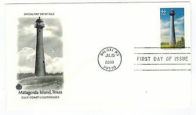 FIRST DAY ISSUE MATAGORDA ISLAND, TEXAS US STAMP JUL 23,2009, S#68