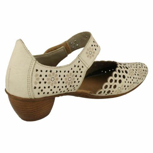 Femmes Rieker 43753 Crochet /& Boucle Talon Bas Décontracté Cour Chaussures d/'été Floral Taille
