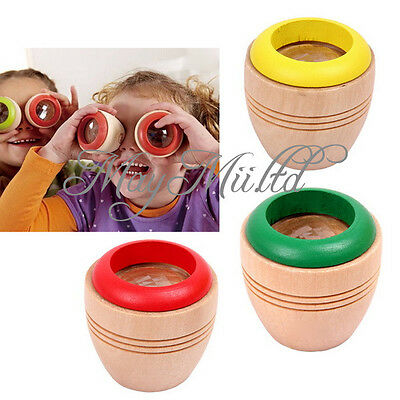 Wooden Educational Magic Kaleidoscope Baby Kid Children Learning Puzzle Toy N