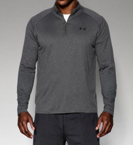 Under Armour Men/'s UA Tech 1//4 Zip Shirt 1242220 Carbon Heather 090