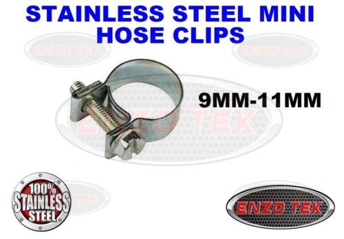 9-11MM acier inoxydable mini carburant ligne tuyau de clip pinces eau huile gaz tube