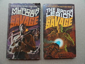 2-Doc-Savage-Paperback-Books-Adventure-Stories-15-amp-16
