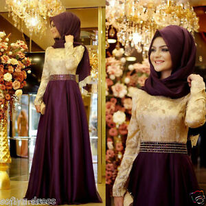2019-Muslim-Formal-Evening-Long-Sleeve-Pageant-Dress-Party-Prom-Ball-Gown-Custom
