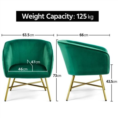 Modern Accent Chair Living Room Armchair Upholstered Dining Chair Soft Velvet