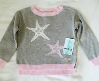 Roxy Girl Pink And Gray Starfish Sweater. Retails $42 Price $26