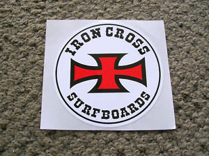 Details about iron cross surfing surfboard sticker decal longboard surfer  san diego surf shop