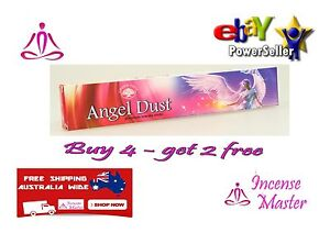 ANGEL DUST Incense Stick- 15g X 1pack YOGA + SAMPLES- GREEN TREE