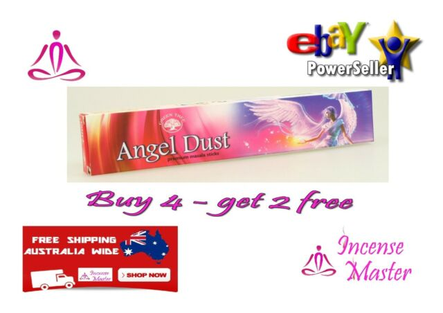 ANGEL DUST  Incense Stick- 15g X 1pack YOGA + FREE SAMPLES- GREEN TREE