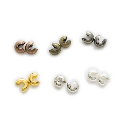 100 Piece Crimp Bead Covers Findings Accessories Jewelry Making 3-5mm