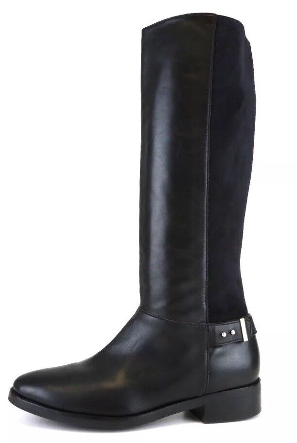 Cole Haan Adler Leather Suede Riding Boot Black Black Black Women Sz 8.5 B 6802  9789ad