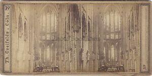 Coln Germania Deutschland Stereo Th. Creifelds Foto Vintage Albumina Ca 1860