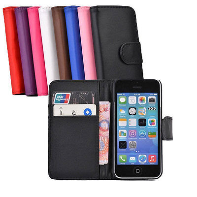 New Fashion Wallet Flip Leather Stand Case Cover For Apple iPhone 4 4S 5 5S