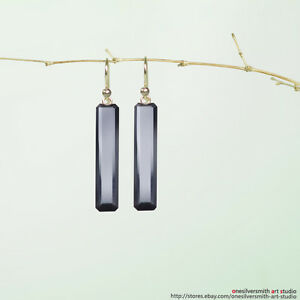 18k 14k Pure Gold  Black Onyx  Rice  Earrings With Lever Back Option Jewelry & Watches