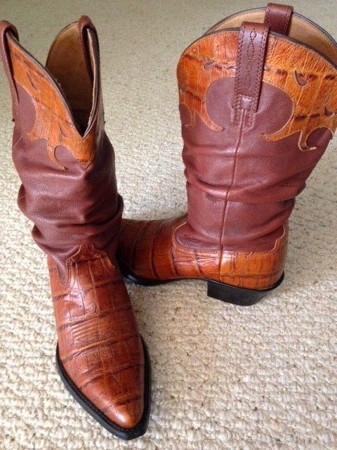 NWOT ARIAT Braun Slouch Leder Cowboy Stiefel, 6.5B