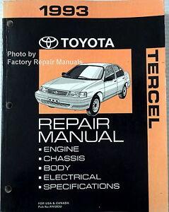 1993 toyota tercel factory service manual original shop repair ebay rh ebay com 2013 Kia Forte Repair Manual 1993 toyota factory service manual