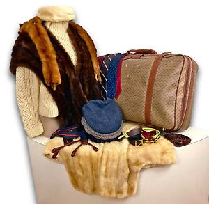 VTG-80s-GUCCI-Suitcase-Filled-with-HIGH-END-Vintage-Clothing-Lot-Mink-Fur-More
