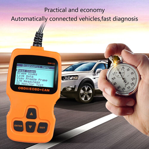 OM123 OBDⅡ Scanner Auto Diagnostic Tool ODB2 Auto Scaner Read Clear Engine G2Z0