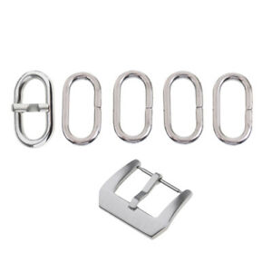6-Pieces-Stainless-Steel-Watch-Strap-Loop-Holder-Buckle-Wristband-Accessory