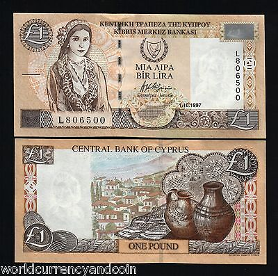 CYPRUS 1 POUND P60 1997 EURO ORIGINAL *BUNDLE* UNC CURRENCY MONEY BILL 100  PCS | eBay