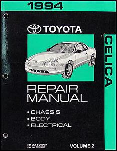 1994 toyota celica chassis body repair manual volume 2 original shop rh ebay ie 1990 Toyota Celica 1998 Toyota Celica