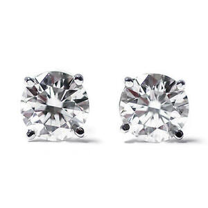 Paar-Diamant-Brillant-Ohrstecker-Solitaer-0-25ct-585-14K-Weissgold-Zertifikat