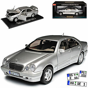 Mercedes-Benz-E-Klasse-W210-E320-Limousine-Silber-1995-2002-1-18-Sun-Star-Mode