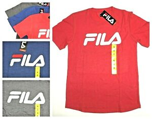 Details about SALE! NEW Fila Men's Graphic Logo Tee Crew Neck Short Sleeve T-Shirt VARIETY