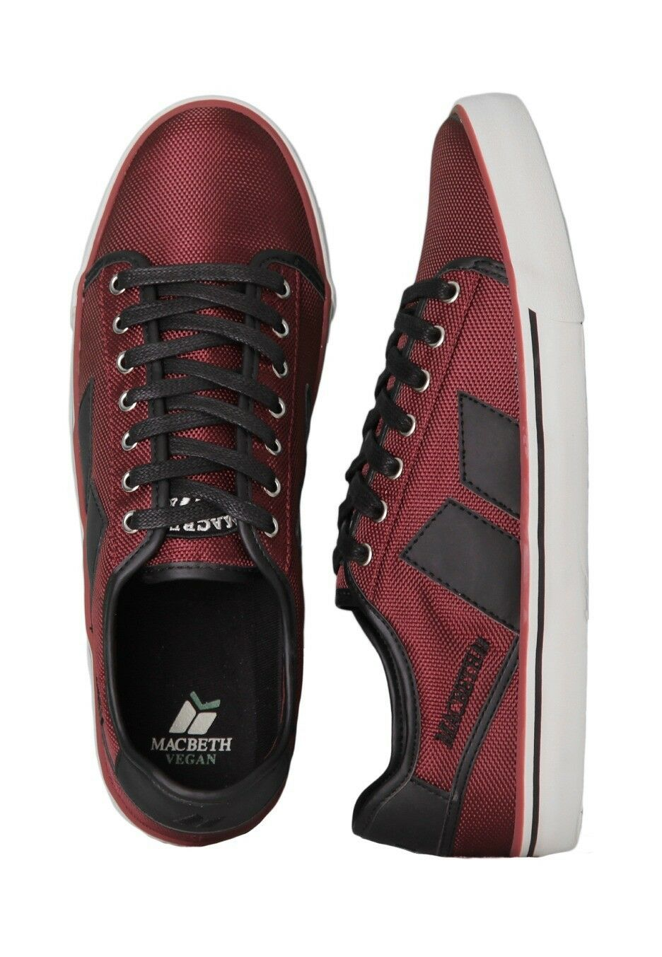 Macbeth James Leinen Turnschuhe Schuhe OchsenBlaut Rot Schwarz Vegan Größen UK 4-13