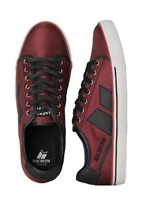 8965ea0824f Macbeth James Canvas Sneaker Shoes Ox Blood Red   Black Vegan sizes ...