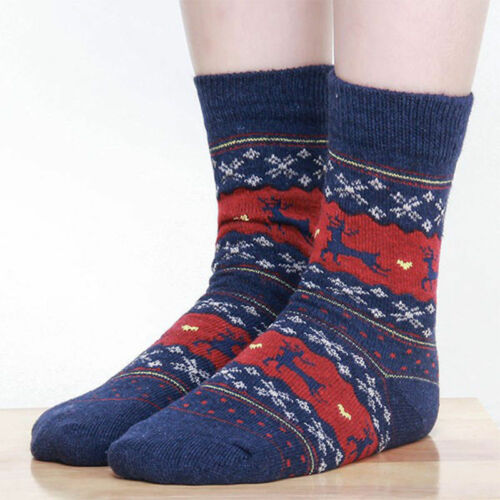 Beautiful Unisex Novelty Winter Warm Christmas Stocking Filler Socks Deer Gifts