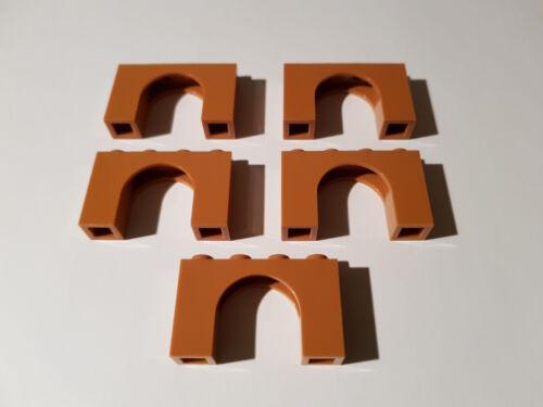 LEGO® 5 x 6182 Bogen Stein 1 x 4 x 2 nougat Medium Dark Flesh 6174192 #AC04