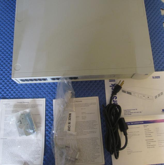 NOS 3COM Super Stack II Hub 3C510511B Free Shipping