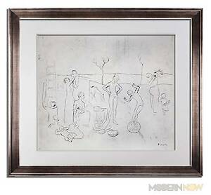 Pablo-PICASSO-Lithograph-LTD-ed-034-Les-Saltimbanques-034-Sign-FRAMING