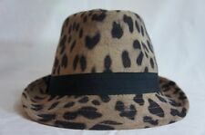 Collection Eighteen 18 Hat Sz OS One Size Camel Brown Multi Leopard Fedora Hat