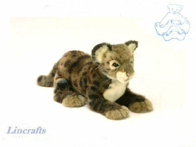 Cougar Cub Plush Soft Toy Wildcat by Hansa Sold by Lincrafts. 4959