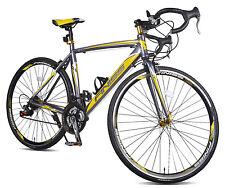 Merax Finiss Aluminum 21 Speed 700C Road Bike Shimano 50cm Grey/Yellow