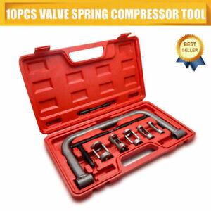 10-Pezzi-strumento-Compressore-Molla-Della-Valvola-Kit-Universale-Set-Auto-Moto