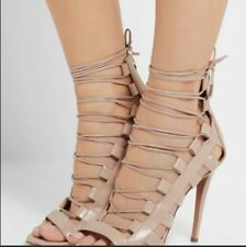 0b3acb35460e Aquazzura Amazon 105 Nude Leather Stiletto PUMPS Shoes Size 40 ...