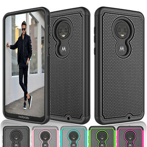 Details about For Motorola Moto G7/G7 Plus Shock Absorbing Bumper Rubber  Hard Shell Case Cover