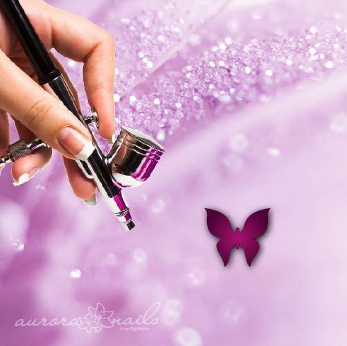 Airbrush Klebe Schablonen - NAILART - SVG05 - Butterfly Schmetterling Fliege 96x